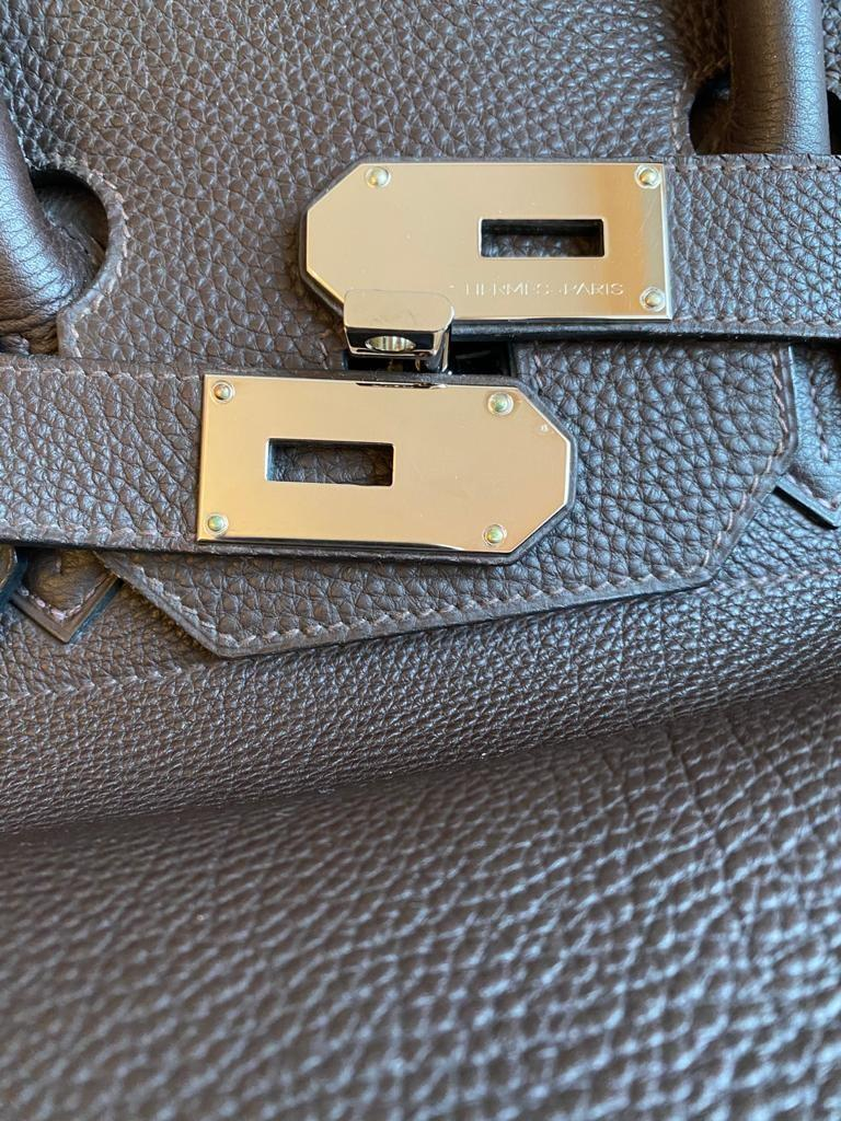 A Brown Hermes Birkin 50cm Haut A Courroies in clemence leather with gold hardware. Includes - Image 4 of 16