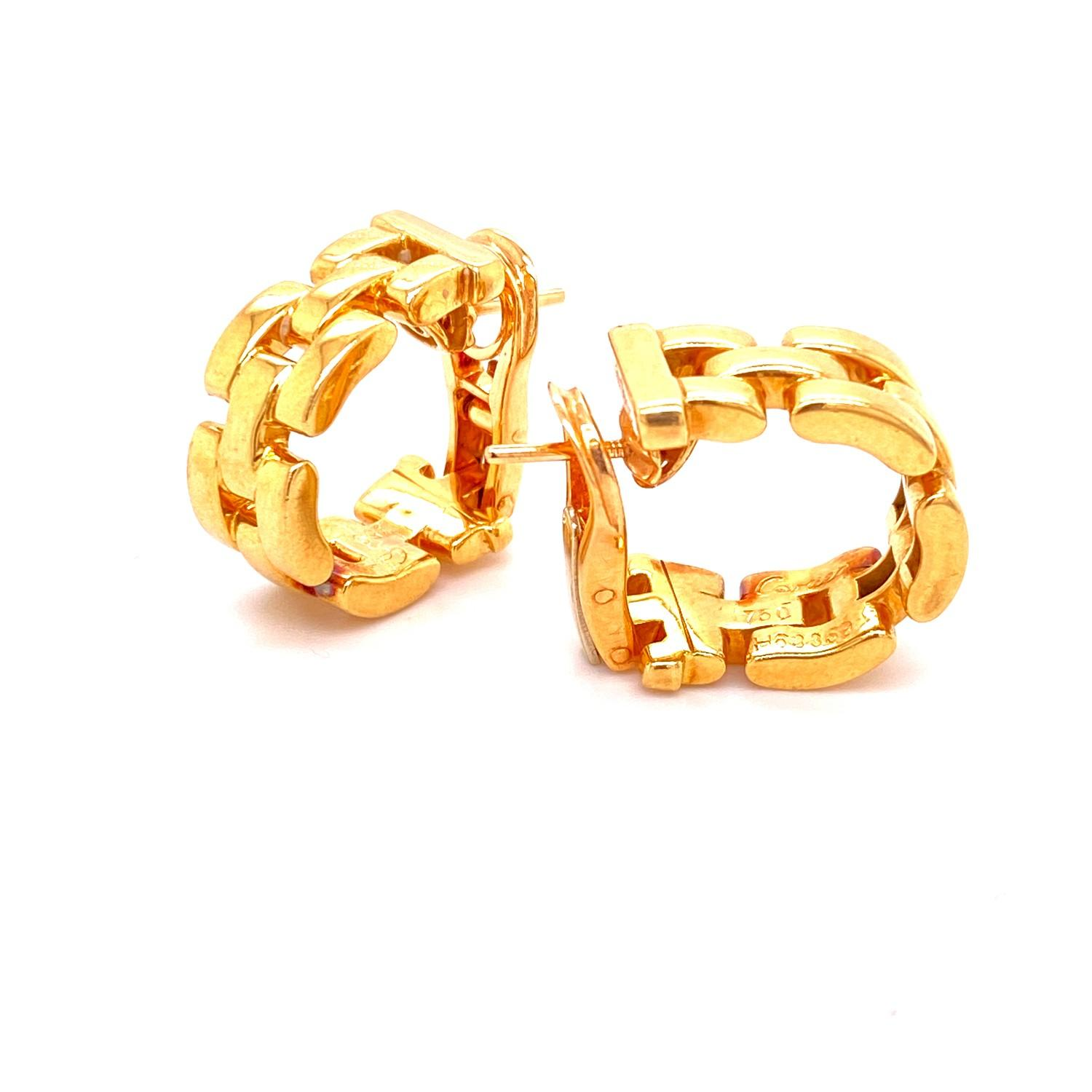 A pair of Cartier Panthere earrings mounted in 18ct gold. English. 1992. Signed and numbered with - Image 2 of 6