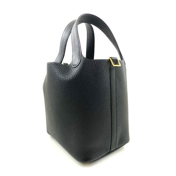A black Hermes Picotin 18cm in clemence leather with gold hardware. Includes Box, Dustbag & Receipt, - Image 2 of 5