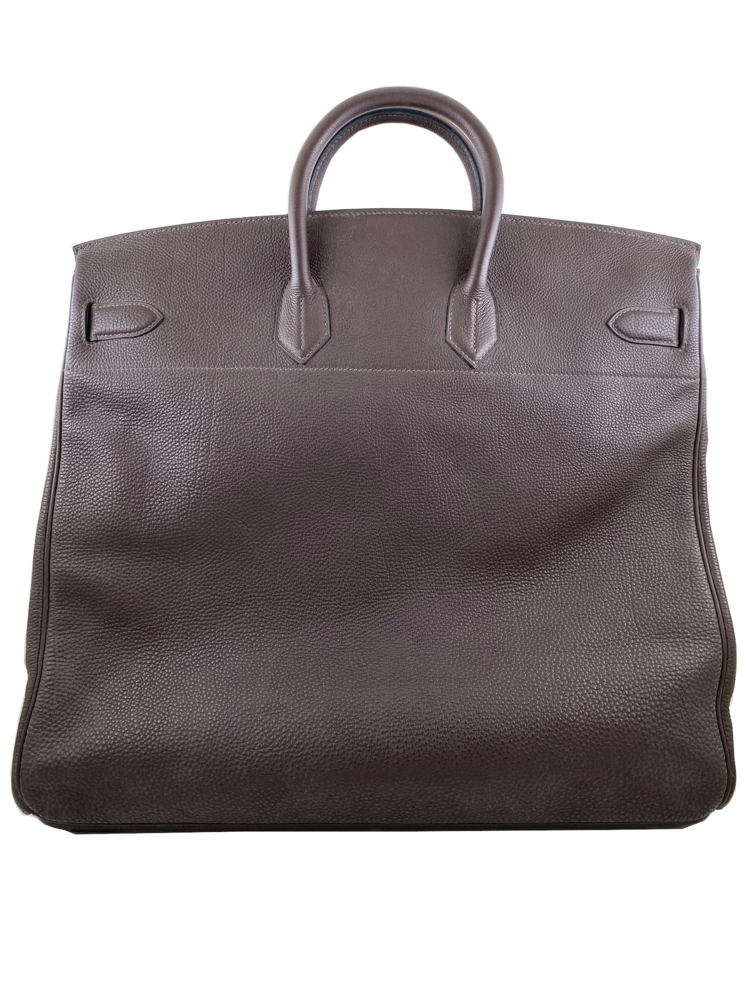 A Brown Hermes Birkin 50cm Haut A Courroies in clemence leather with gold hardware. Includes - Image 5 of 16