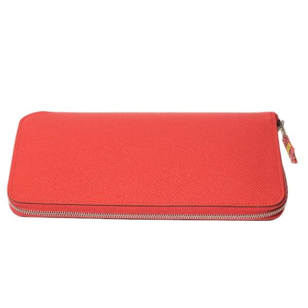A Hermes Azap Wallet (silk in) Rose Jaipur in Epsom leather with palladium hardware. Includes Box,