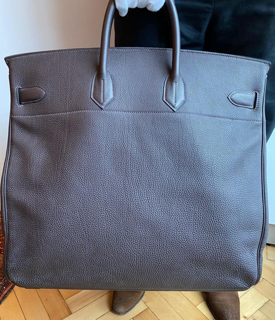 A Brown Hermes Birkin 50cm Haut A Courroies in clemence leather with gold hardware. Includes - Image 13 of 16