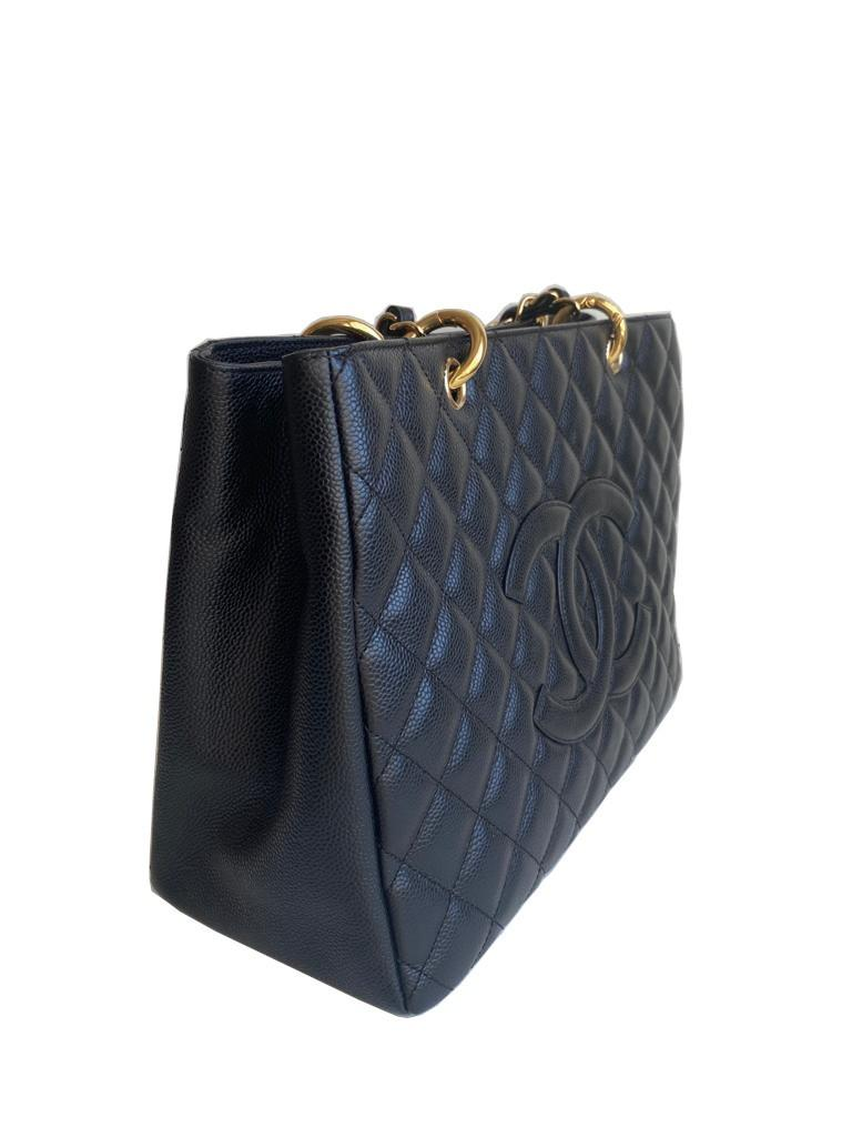 A Chanel Grand Shopping Tote Black Caviar leather with gold hardware. W.33cm x H.25.5cm x D.13.5cm - Image 2 of 6