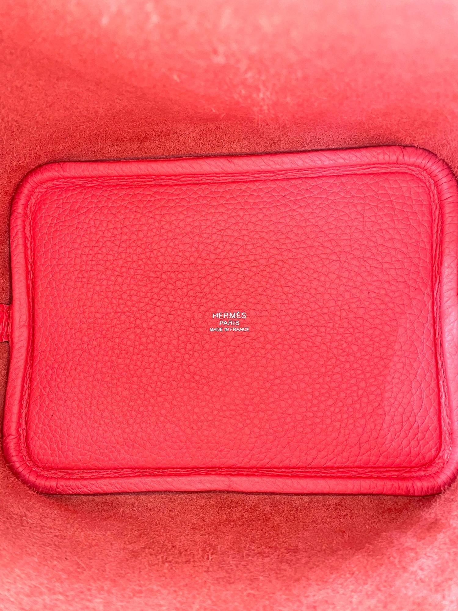 A Rose Azalee Hermes Picotin 18cm in clemence leather with palladium hardware. Includes Box, Dustbag - Image 3 of 5
