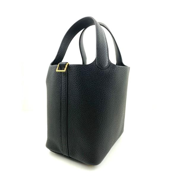 A black Hermes Picotin 18cm in clemence leather with gold hardware. Includes Box, Dustbag & Receipt, - Image 4 of 5
