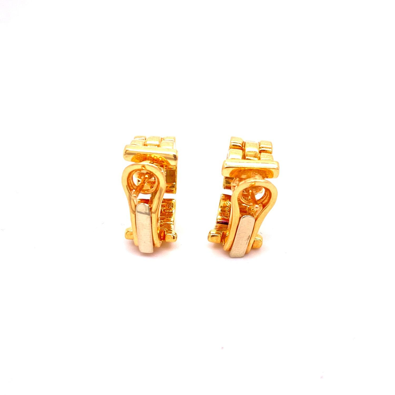 A pair of Cartier Panthere earrings mounted in 18ct gold. English. 1992. Signed and numbered with - Image 5 of 6