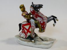 A Michael Sutty hand painted porcelain figure group, Robert the Bruce, limited edition numbered 144.