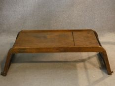 A mid century vintage laminated plywood occasional table with label marked; The 'Five Way'