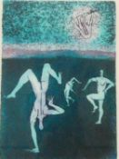 A framed and glazed limited signed etching by American artist Aimee Birnbaum, titled 'Yipee',