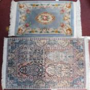 A Bakhtiar rug with central foliate panels within complementary triple borders along with a