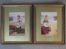 """After Ralph Todd (1856-1932) A pair of framed and glazed prints, """"The Call"""" and """"The boats are"""