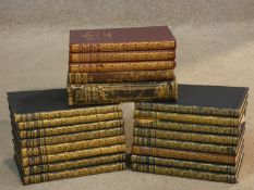 A collection of twenty one vintage books, mostly leather bound reprinted editions, Thomas Hardy