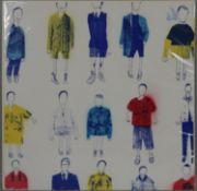 A screen print, standing figures stamped Hemussart.com to the reverse. H.71 W.72cm