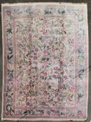 A William Morris design carpet in the Arts and Crafts manner with foliate and floral pattern