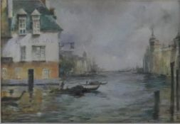 A 19th century framed and glazed watercolour, The Grand Canal, Venice, unsigned. H.33.5 W.41.5cm