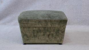 A mid century vintage footstool. H.31 L.56 W.56cm