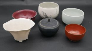 A miscellaneous collection of Oriental and Studio ceramic pieces to include a Nic Harrison bowl, a