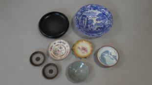 A collection of ceramics. Including various pieces of studio pottery such as Kenilworth porcelain