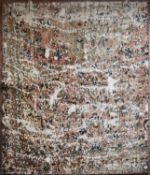 A Persian Re-dyed carpet, allover floral pattern, distressed effect. L.210xW.195cm