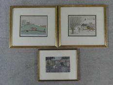 Two framed and glazed signed artist's proof prints by British artist Vincent Haddelsey (1934-