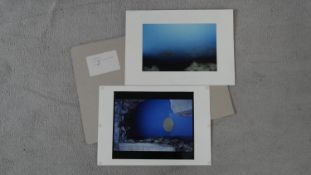 Eva Rudlinger, photo artworks, signed and dated. From series Manilva. H.30 W.42cm (Each)