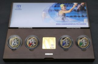 A boxed Royal Mint United Kingdom Manchester 2002 Commonwealth Games silver proof piedfort