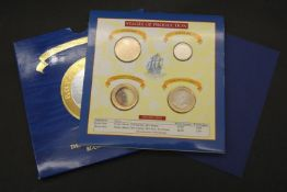 1994 Royal Mint First Trial Strike Bi-Colour £2 Two Pound Coin Set. Included in the pack are the