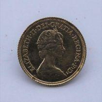 A 22 carat gold Elizabeth II Decimal half sovereign coin, The Elizabeth II Decimal half Sovereign