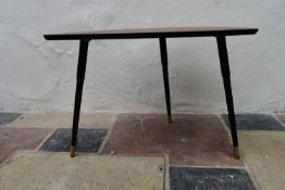 a vintage style coffee table with faux rosewood top on dansette legs. H.55 W.77cm