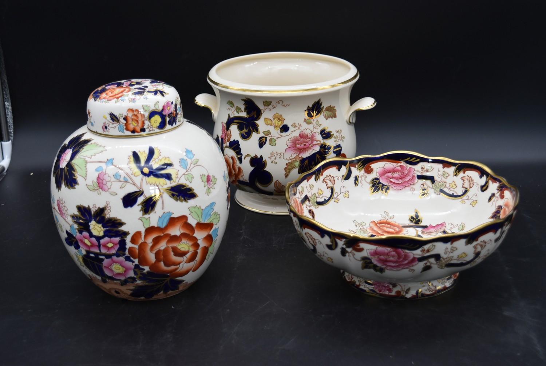 A late 19th century Mason's ironstone bowl, Mandalay, and a matching pail along with a Mason's