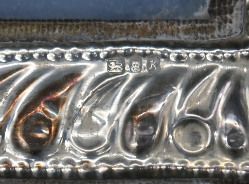 A miscellaneous collection of silver framed easel mirrors, various English hallmarks. H.20cm W. - Image 8 of 13