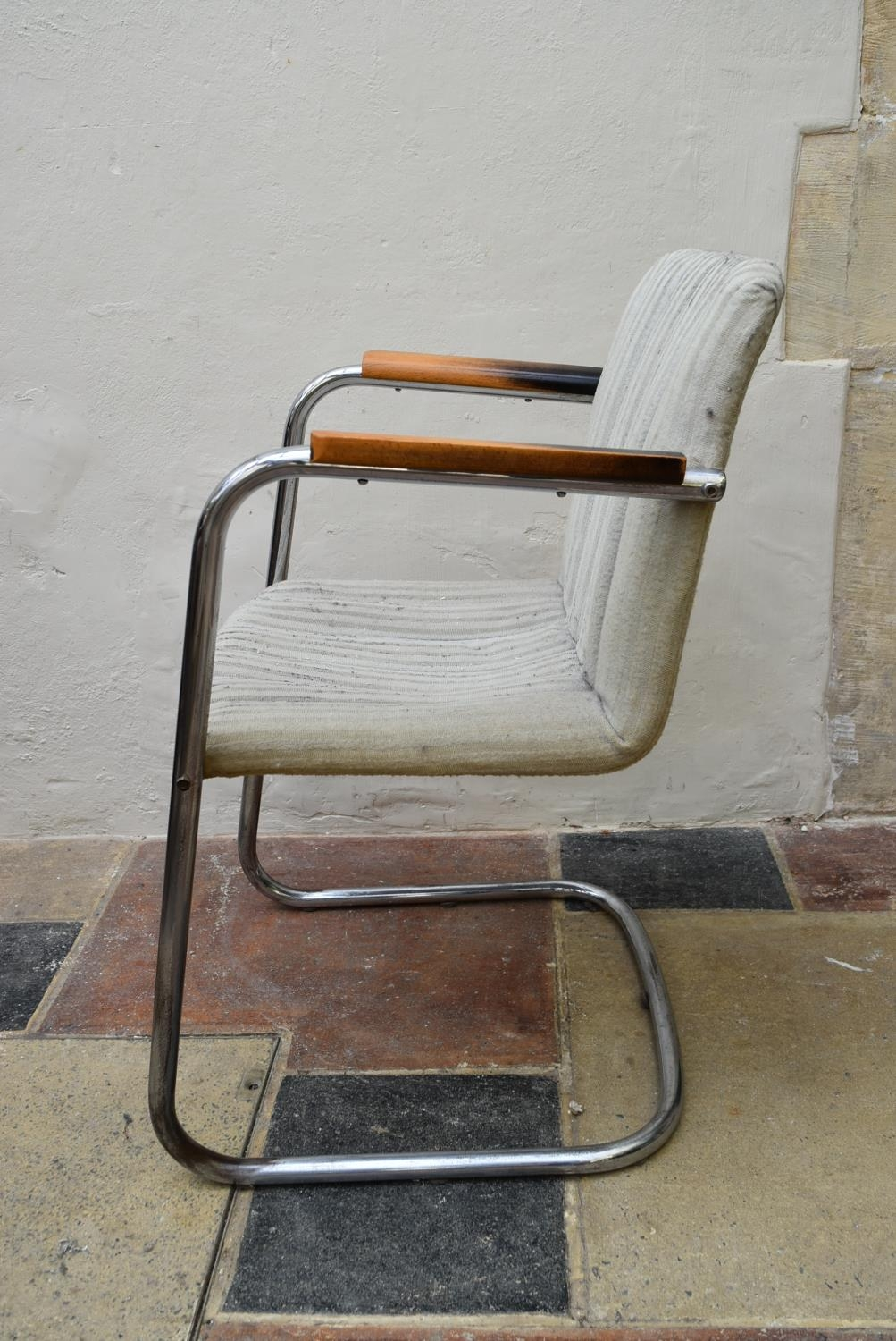 A vintage armchair on chrome cantilever base. H.83 W.53cm - Image 4 of 4