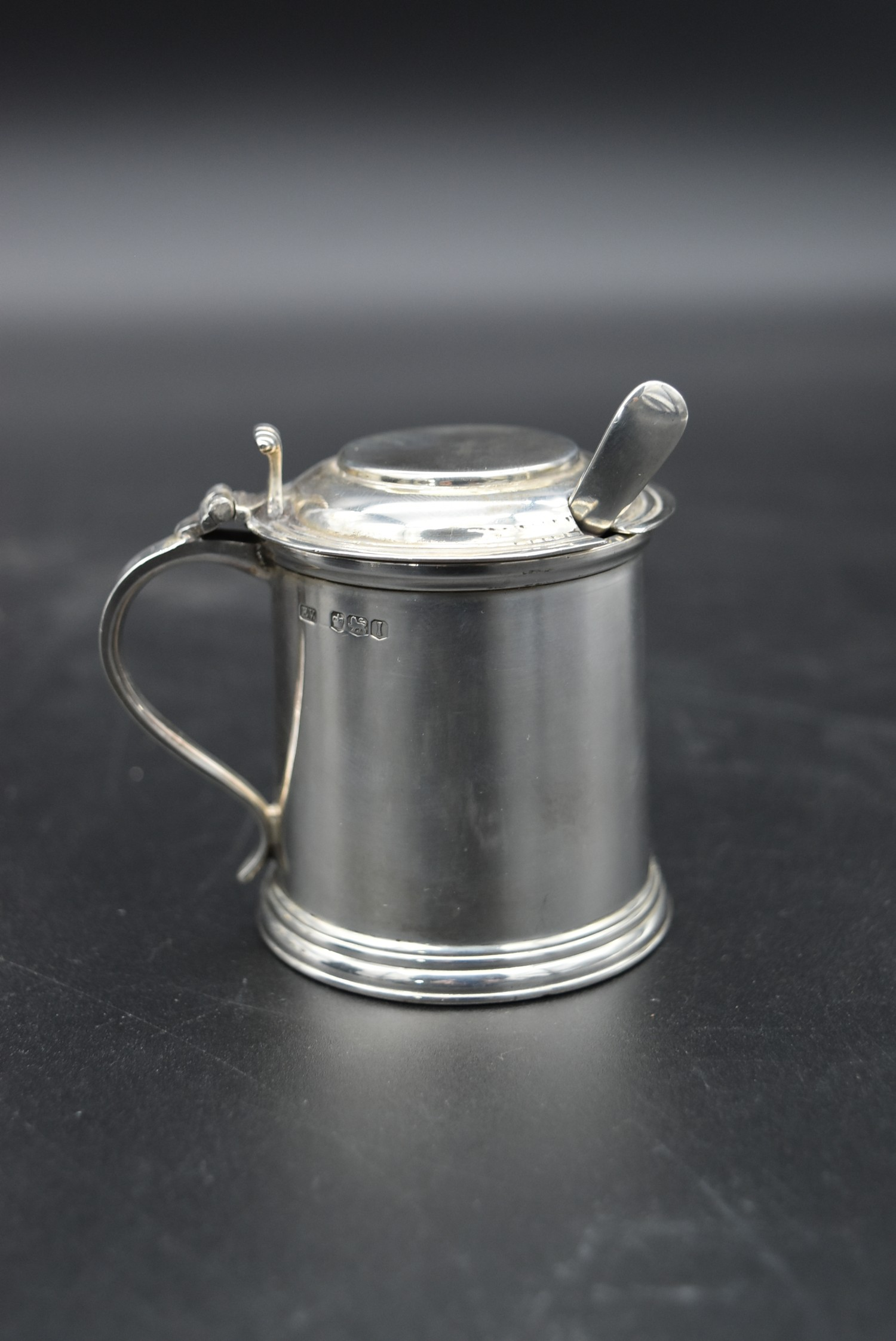 A cased silver cruet, mustard pot and spoon and salt and pepper shakers, CBrs for Clifford Brothers, - Image 4 of 10