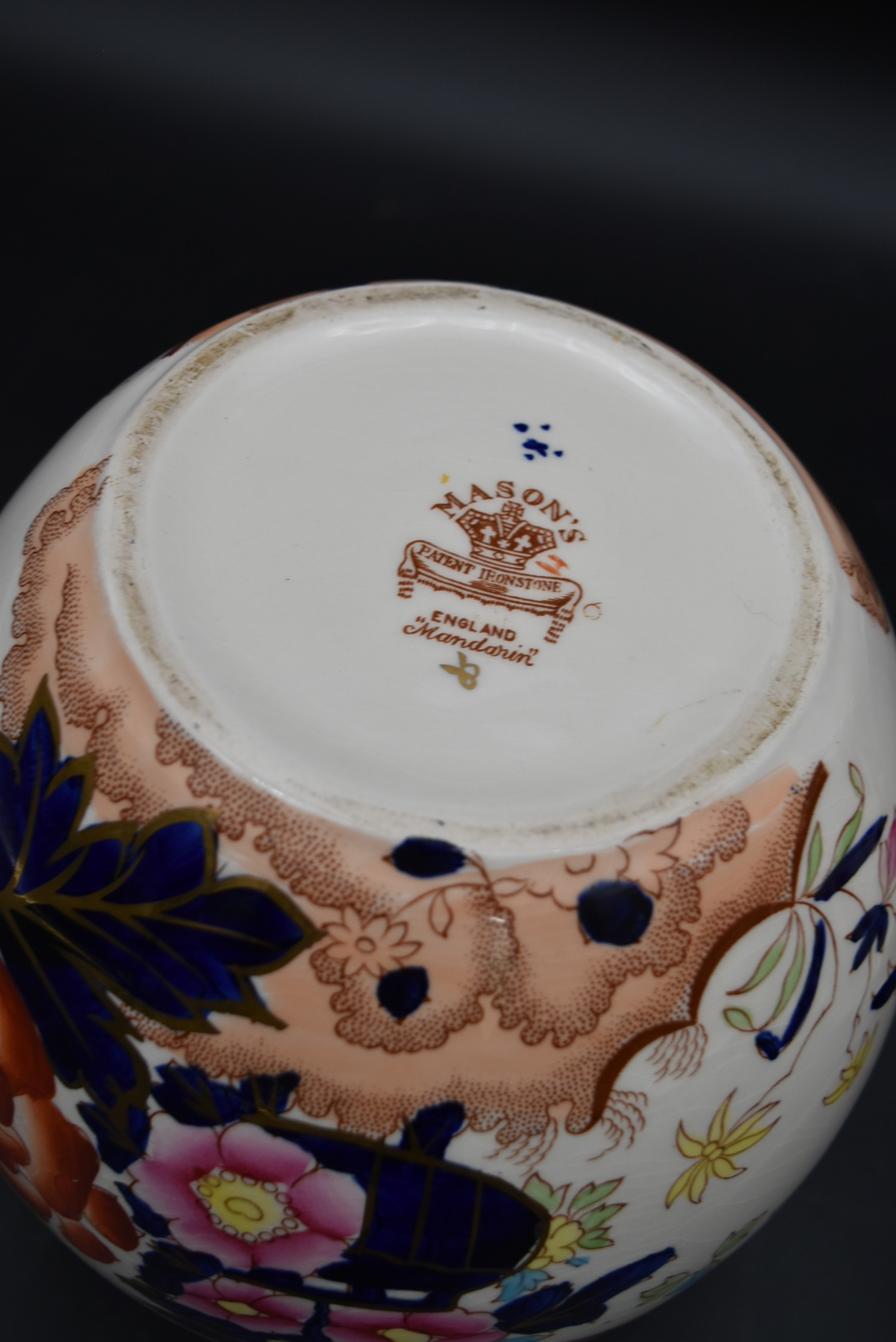 A late 19th century Mason's ironstone bowl, Mandalay, and a matching pail along with a Mason's - Image 9 of 9