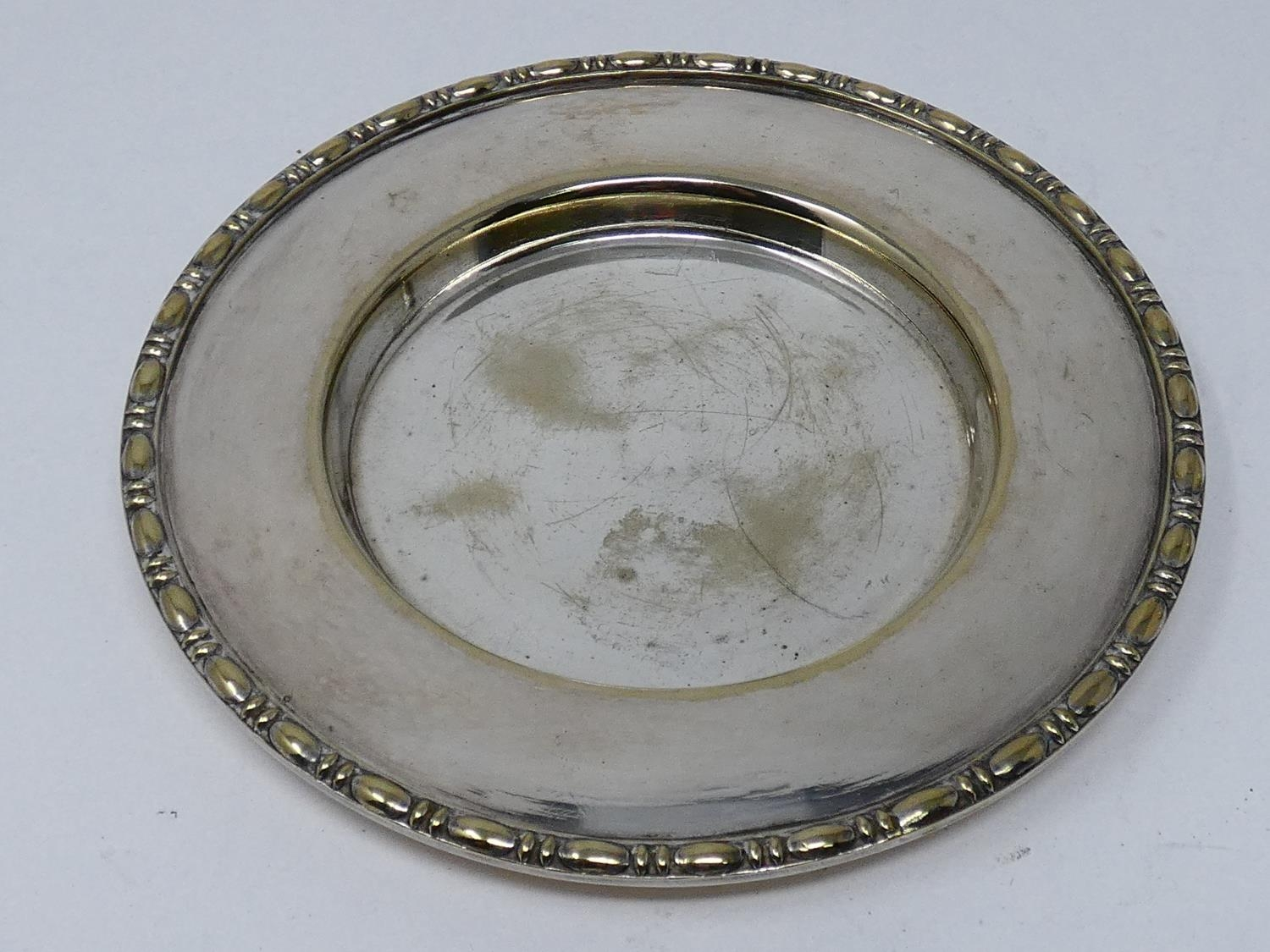 A collection of silver plated items; a hot water jug, trophy cups, card tray and hand mirrors (one - Image 22 of 23