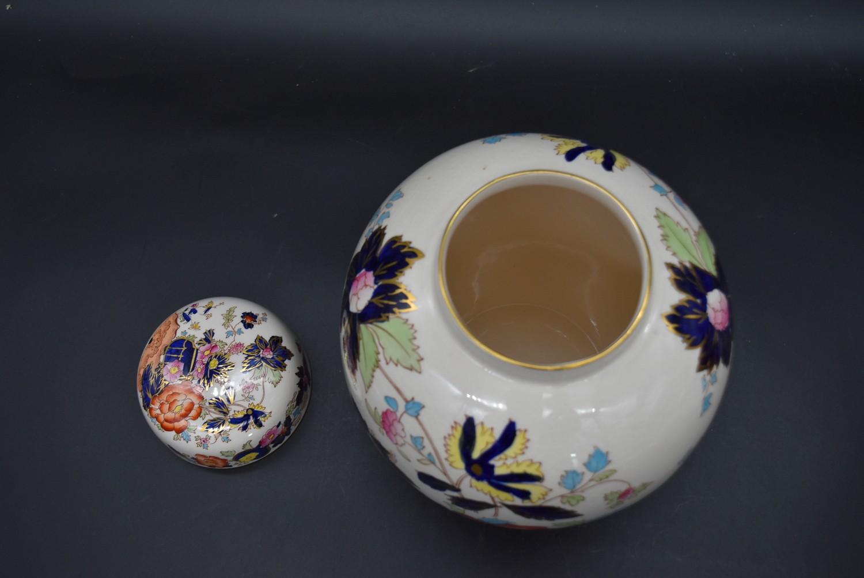 A late 19th century Mason's ironstone bowl, Mandalay, and a matching pail along with a Mason's - Image 8 of 9