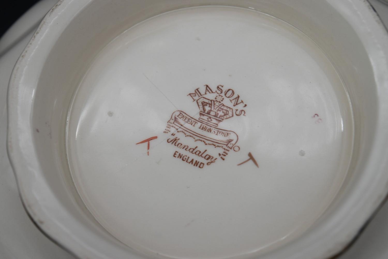 A late 19th century Mason's ironstone bowl, Mandalay, and a matching pail along with a Mason's - Image 3 of 9