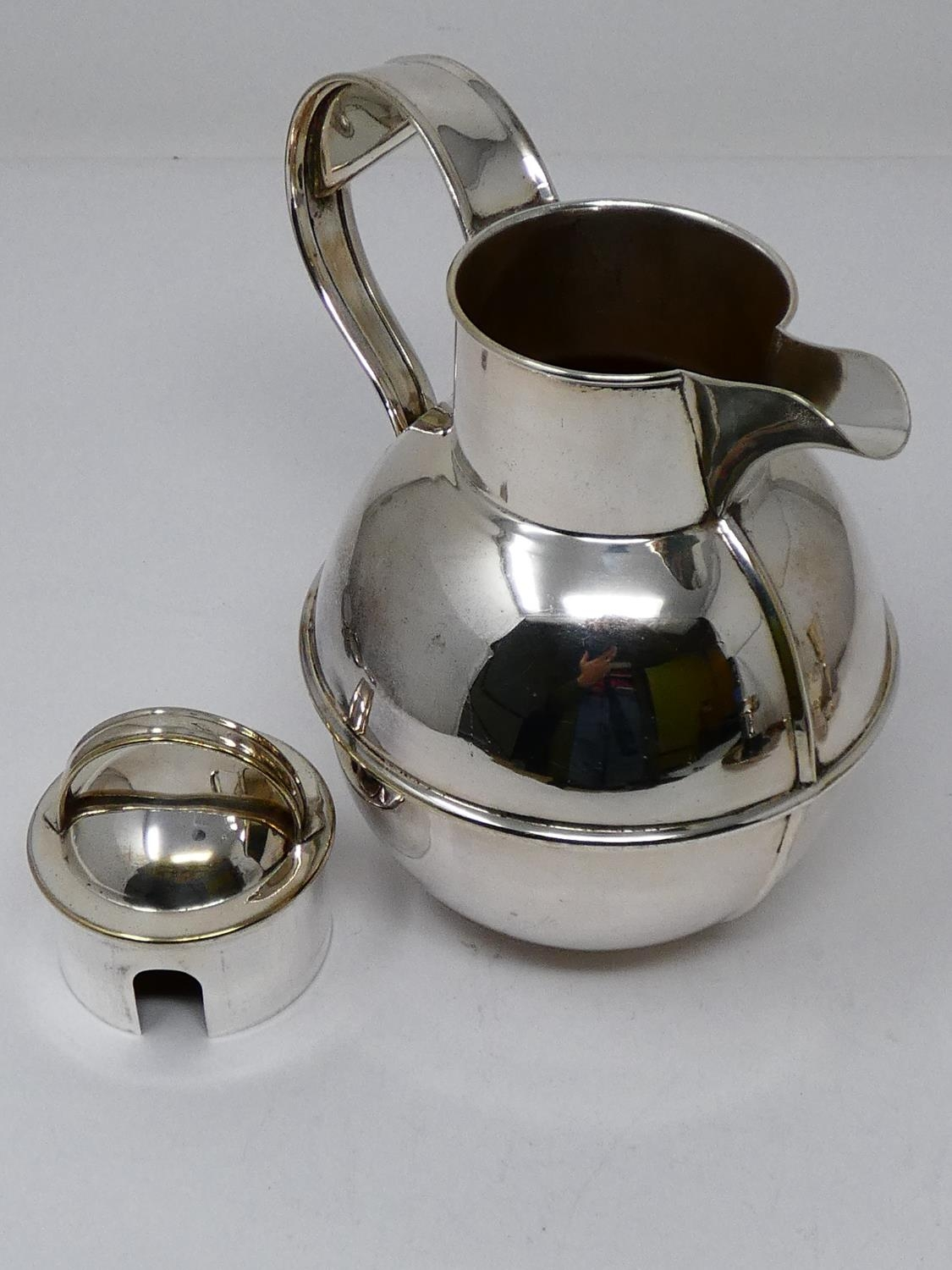 A collection of silver plated items; a hot water jug, trophy cups, card tray and hand mirrors (one - Image 12 of 23