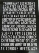 An inkjet on rag paper print by Canadian artist Steven Shearer, Poem for Venice Fundraising, 32/