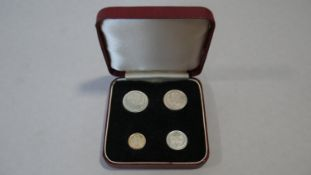 A cased George VI four coin Maundy money set, dated 1937.
