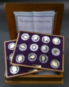 An Elizabeth II, 24-Coin Silver Proof ''Golden Jubilee'' Set comprised of Great Britain, 2002 silver