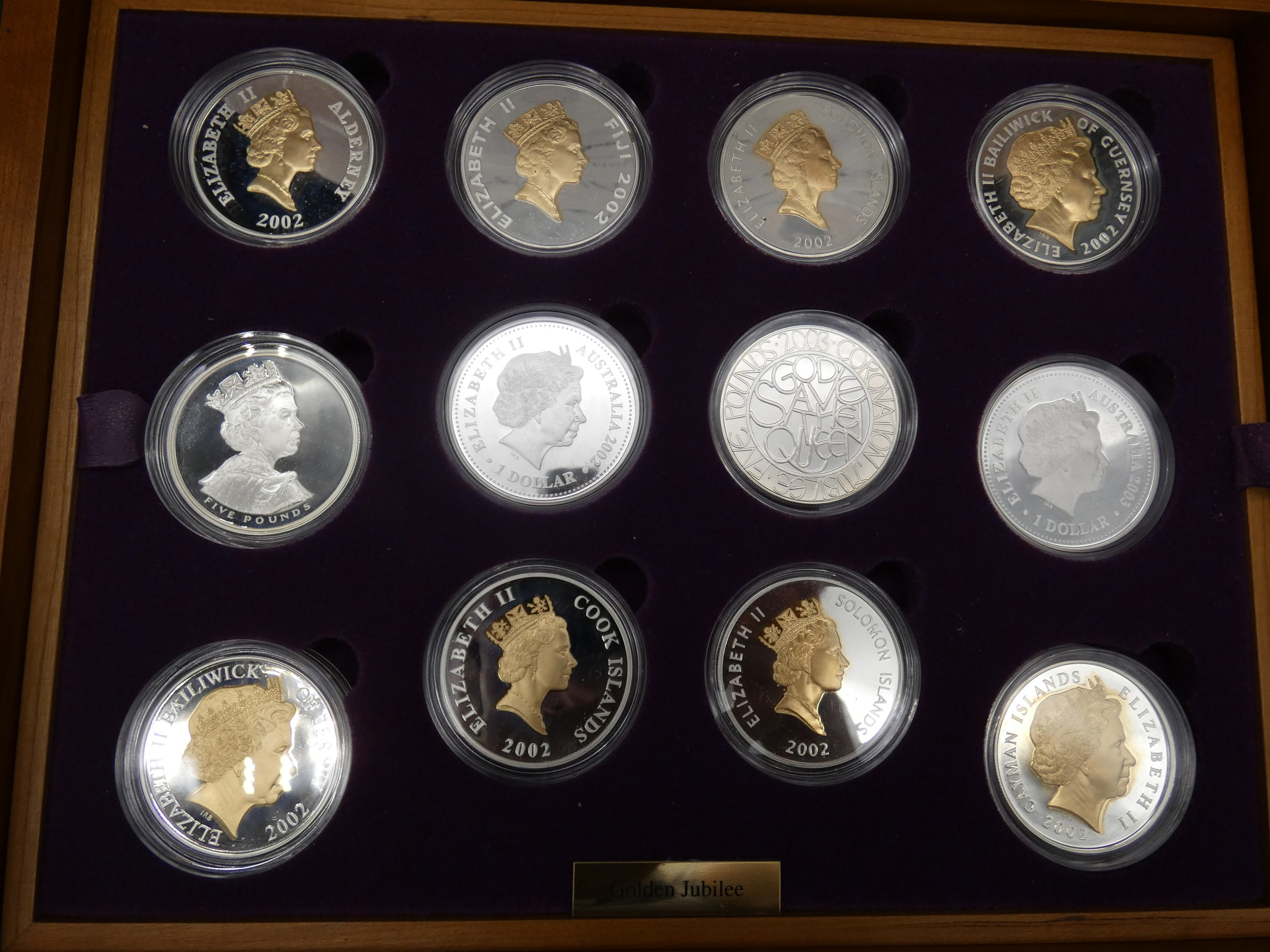 An Elizabeth II, 24-Coin Silver Proof ''Golden Jubilee'' Set comprised of Great Britain, 2002 silver - Image 4 of 12