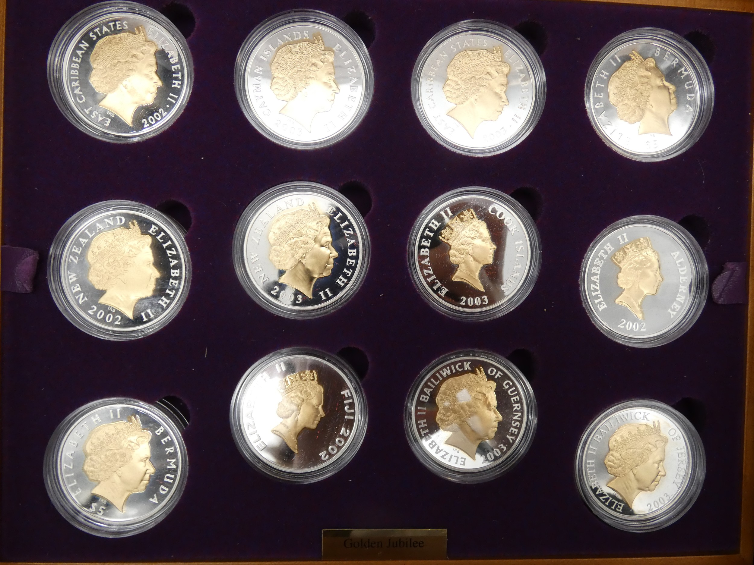 An Elizabeth II, 24-Coin Silver Proof ''Golden Jubilee'' Set comprised of Great Britain, 2002 silver - Image 5 of 12