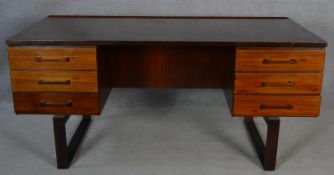 Henning Jensen and Torbin Valeur, a Danish executives desk for Munch Mobler with drawers either side