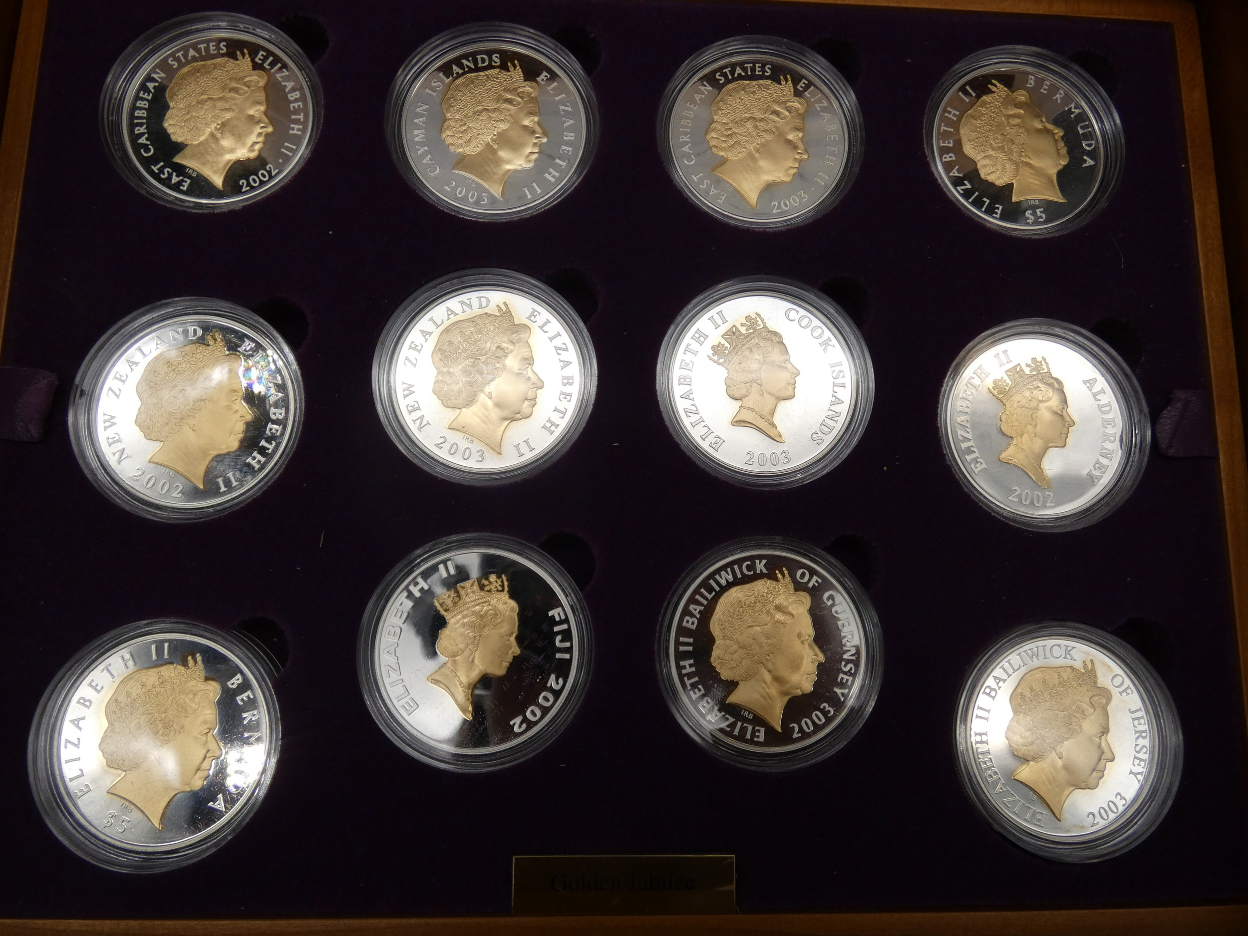 An Elizabeth II, 24-Coin Silver Proof ''Golden Jubilee'' Set comprised of Great Britain, 2002 silver - Image 6 of 12