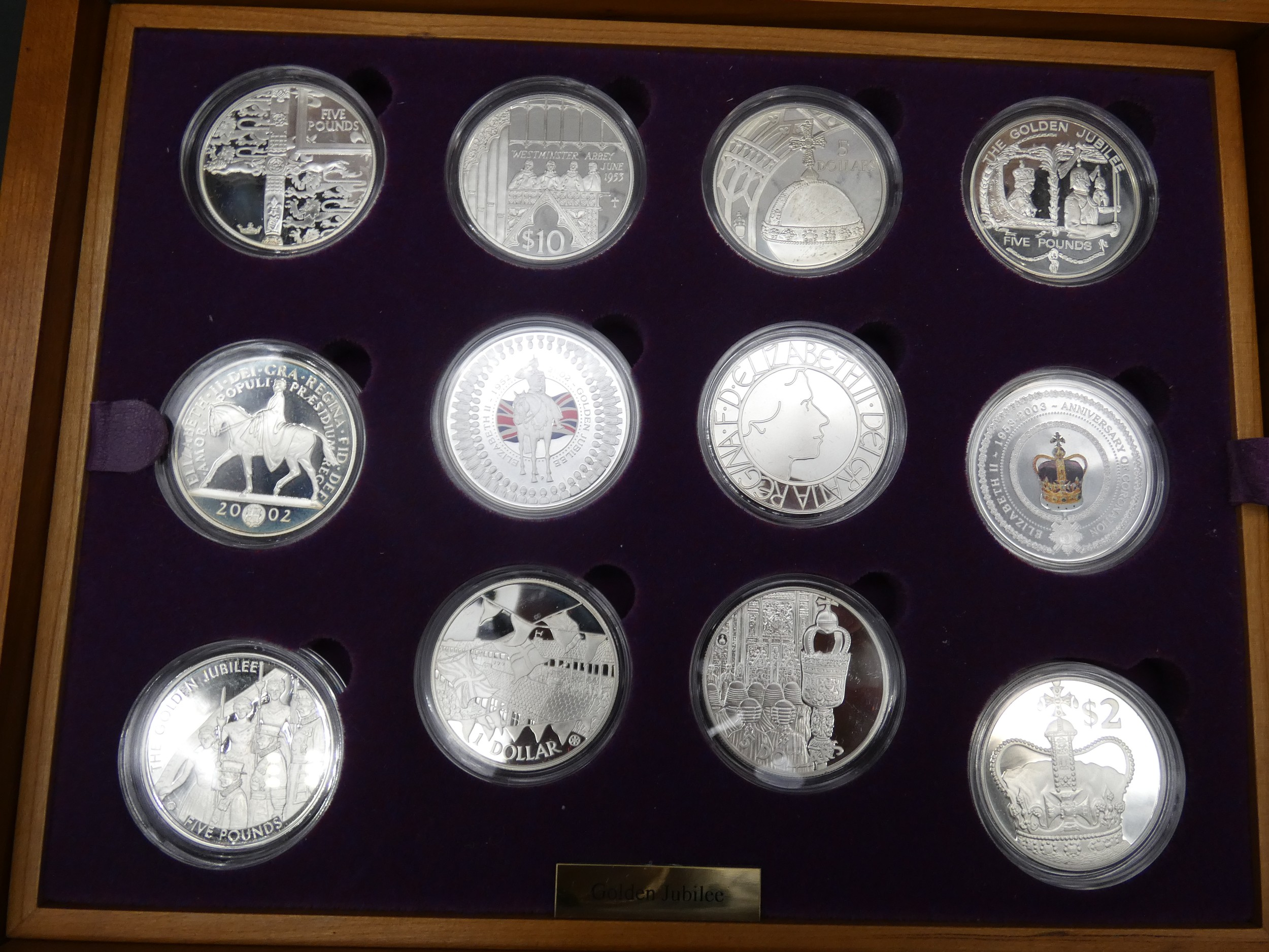 An Elizabeth II, 24-Coin Silver Proof ''Golden Jubilee'' Set comprised of Great Britain, 2002 silver - Image 3 of 12