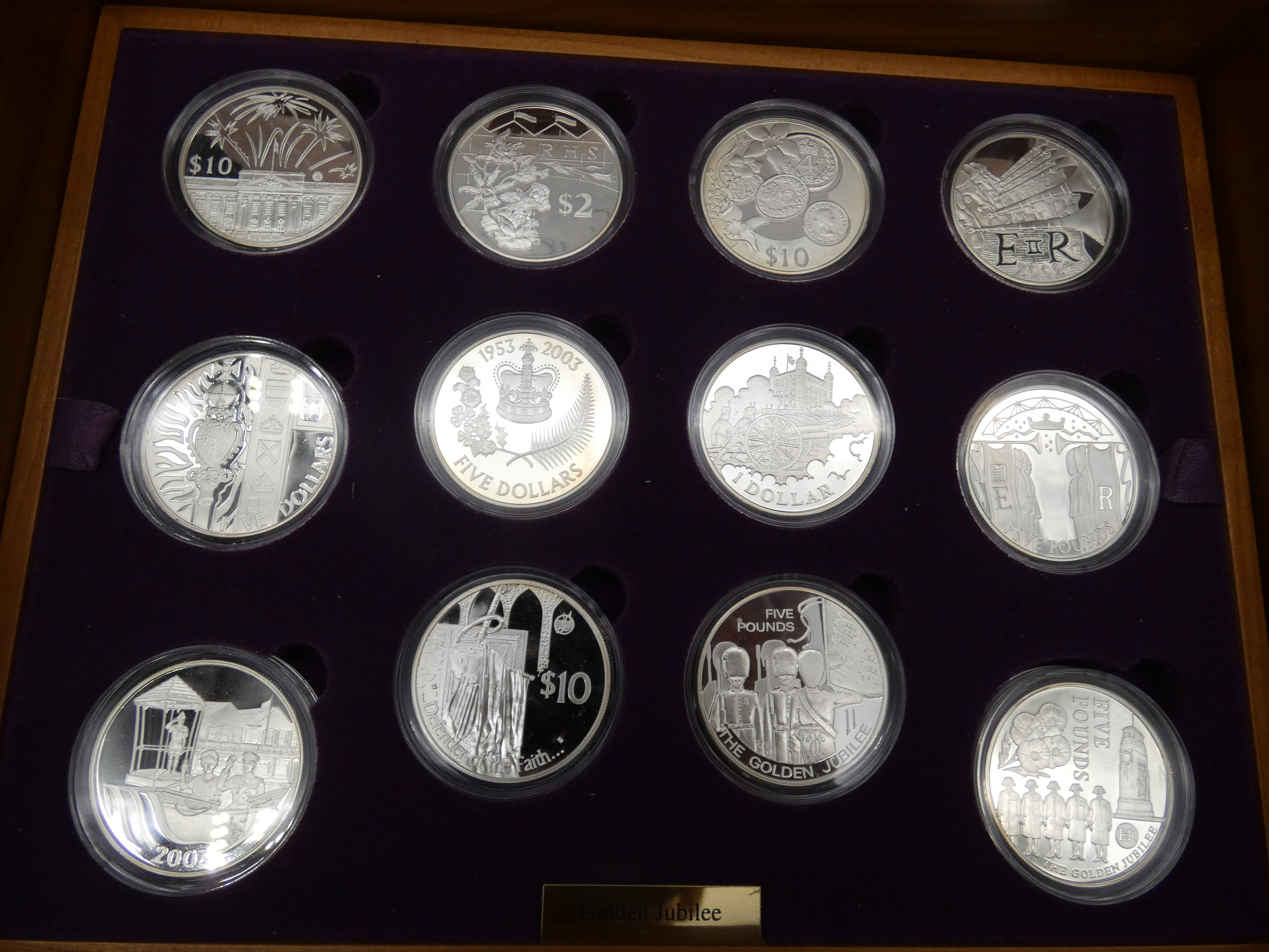 An Elizabeth II, 24-Coin Silver Proof ''Golden Jubilee'' Set comprised of Great Britain, 2002 silver - Image 7 of 12