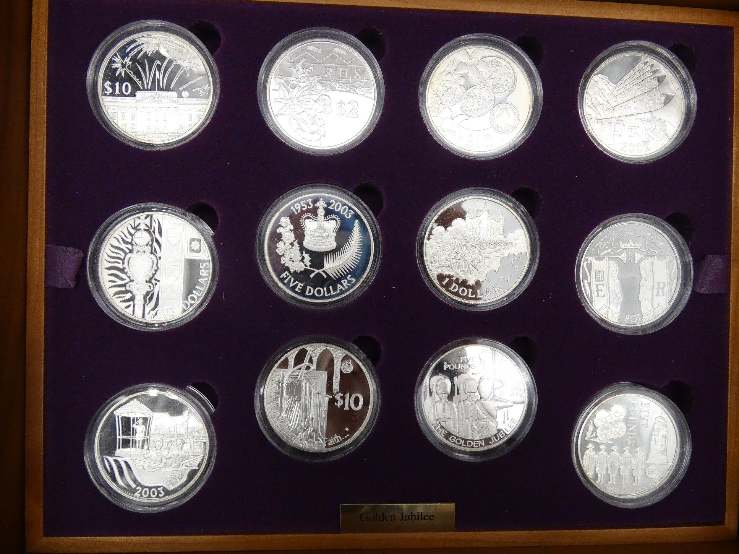 An Elizabeth II, 24-Coin Silver Proof ''Golden Jubilee'' Set comprised of Great Britain, 2002 silver - Image 8 of 12