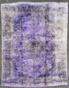 A handmade pure silk cashmere carpet 343cm x 240cm