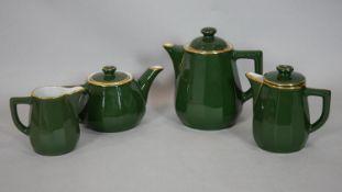 An Apilco porcelain four piece tea and coffee service. H.19cm (Tallest)